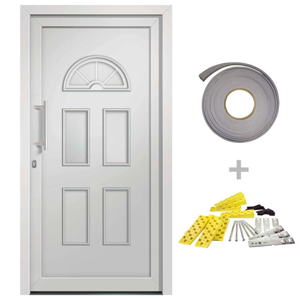 vidaXL Přední vchodové dveře bílé 98 x 198 cm
