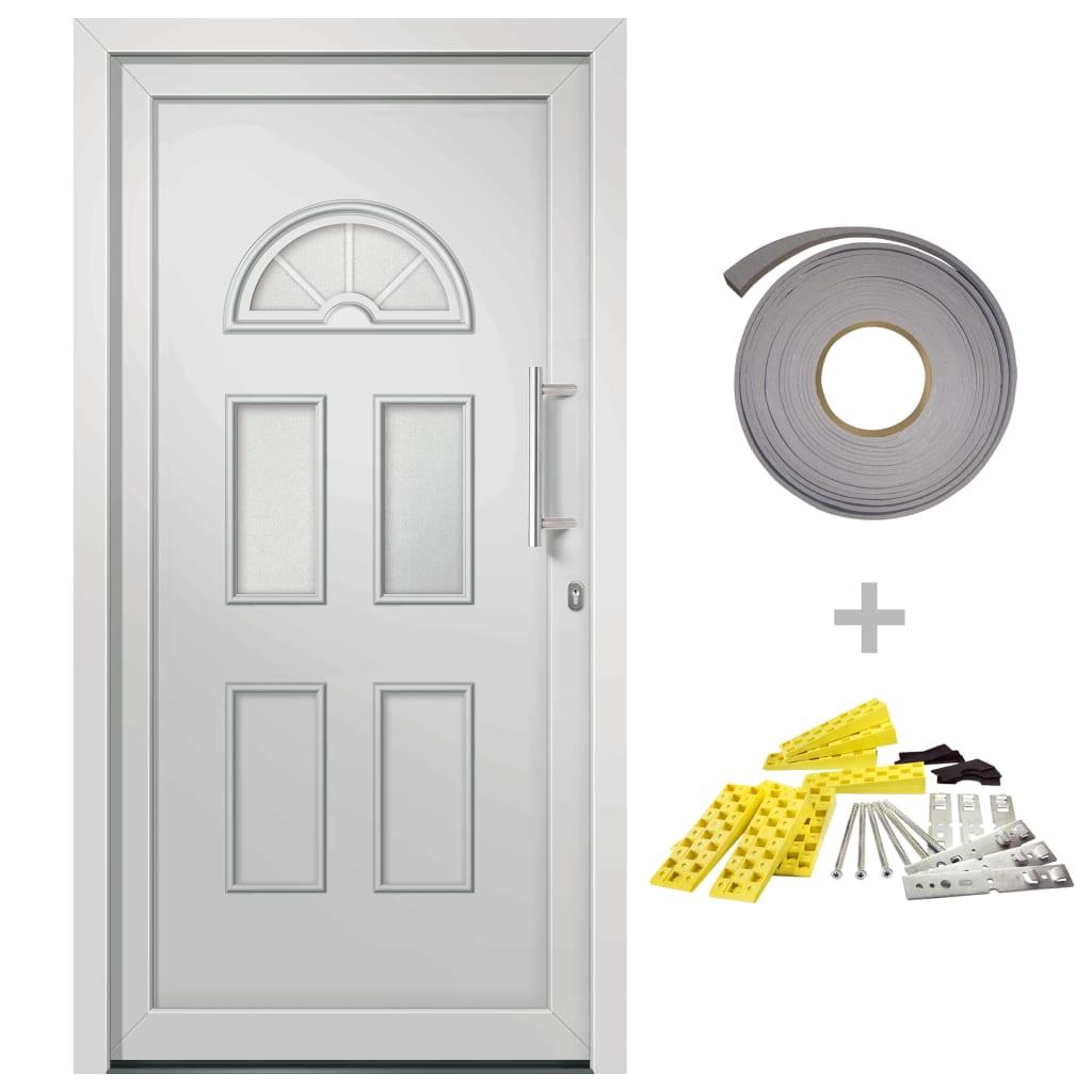 vidaXL Přední vchodové dveře bílé 88 x 208 cm