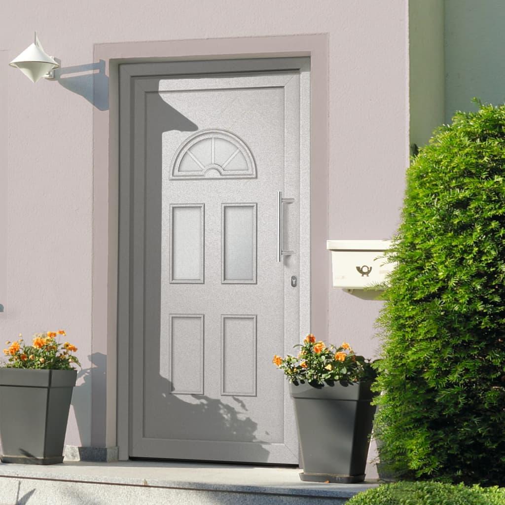 Vchodové dveře bílé 88 x 208 cm