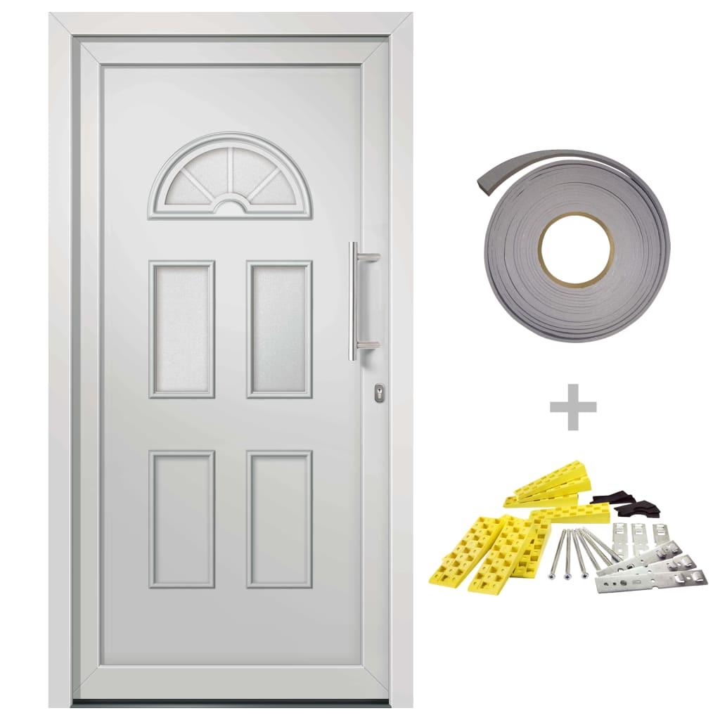 Přední vchodové dveře bílé 110 x 210 cm