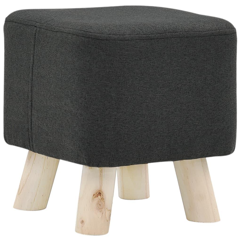 Stolička tmavě šedá textil čtvercová