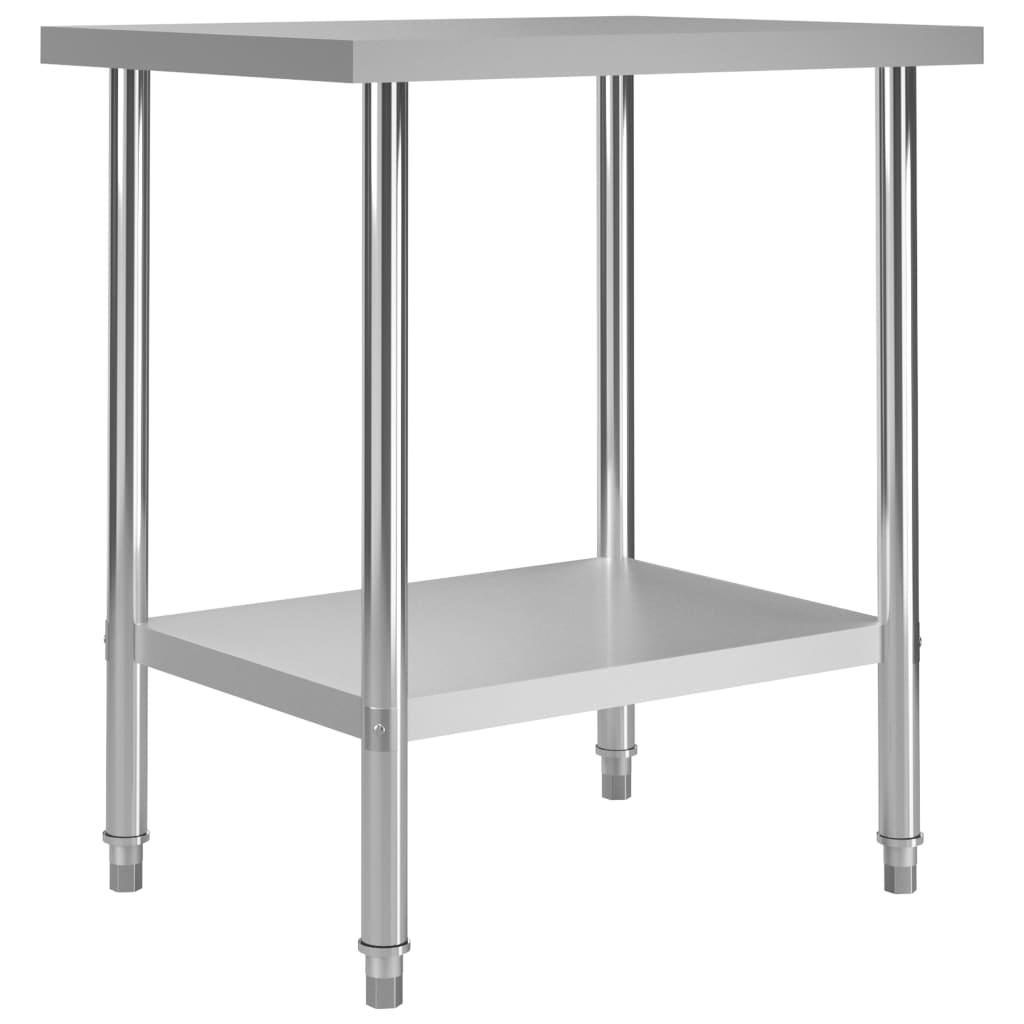 Kuchyňský pracovní stůl 80 x 60 x 85 cm nerezová ocel