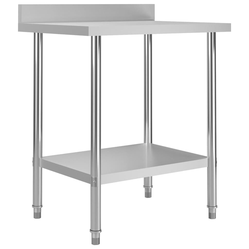 Kuchyňský pracovní stůl přístěnný 80 x 60 x 93 cm nerezová ocel