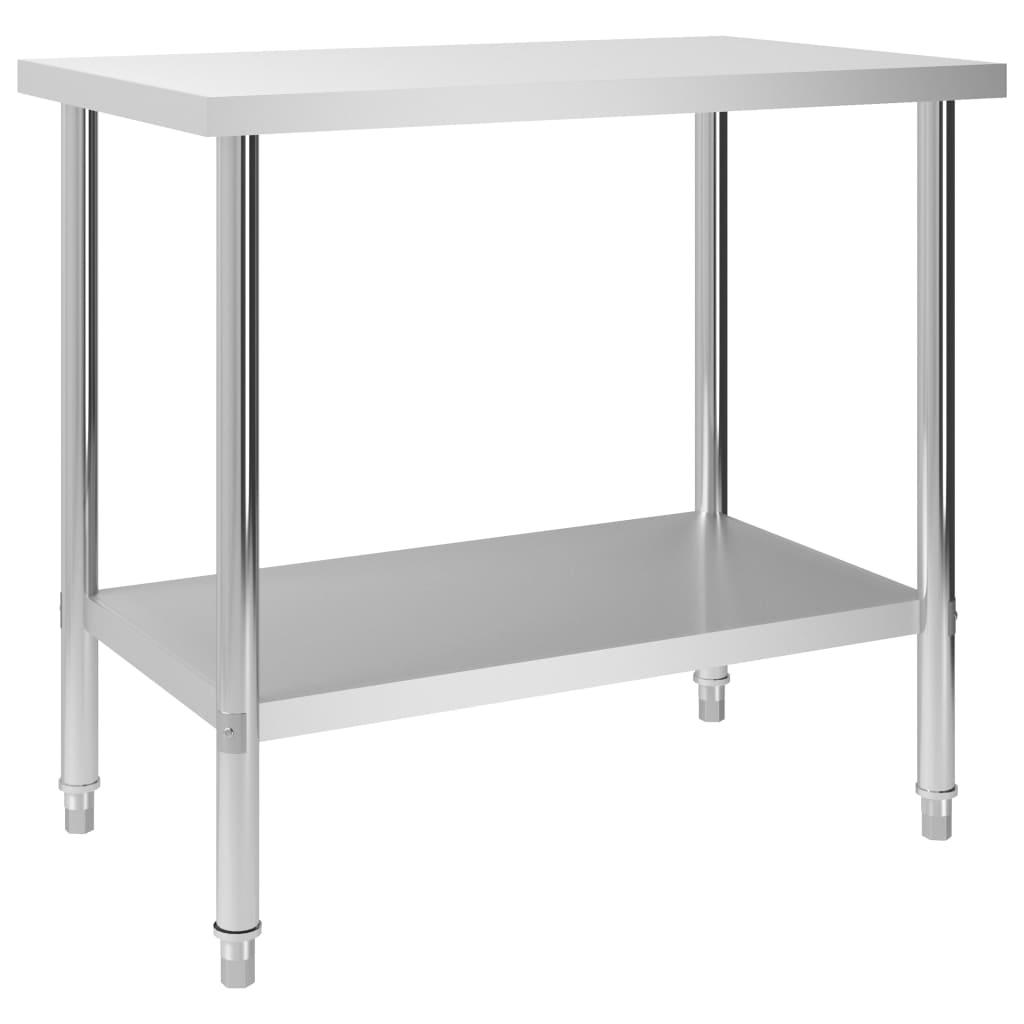 Kuchyňský pracovní stůl 100 x 60 x 85 cm nerezová ocel