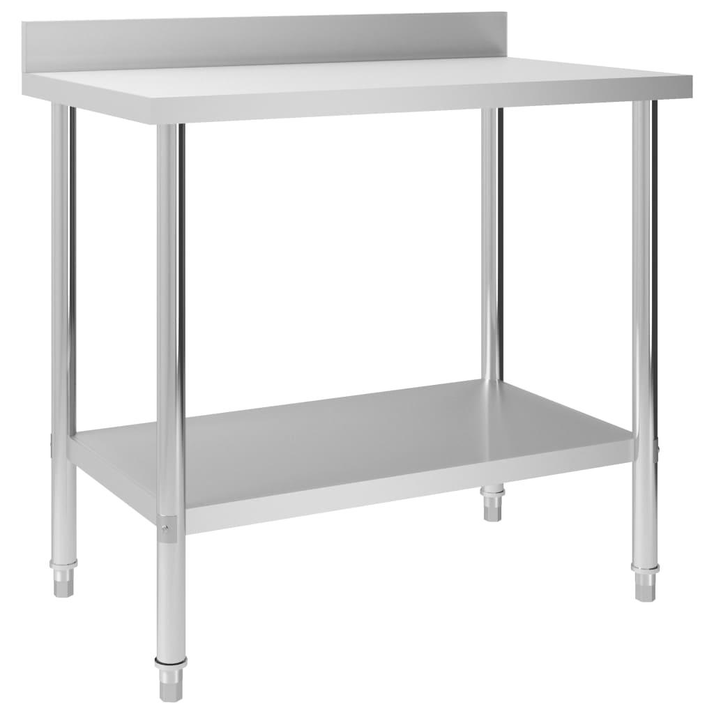 vidaXL Kuchyňský pracovní stůl přístěnný 100x60x93 cm nerezová ocel