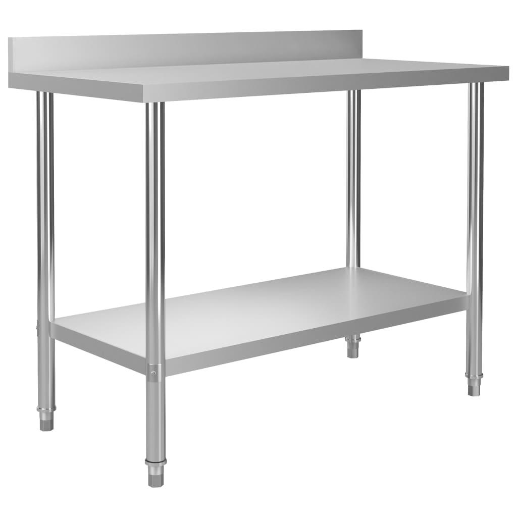 Kuchyňský pracovní stůl přístěnný 120x60x93 cm nerezová ocel