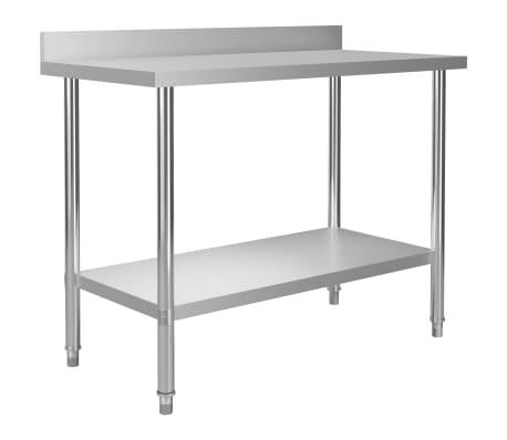 vidaXL Arbeidsbord for kjøkken med bakplater 120x60x93 rustfritt stål