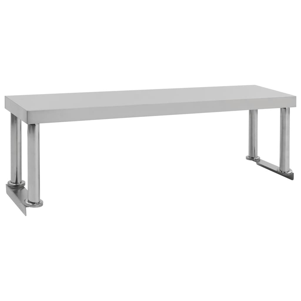 Police nad pracovní stůl 120 x 30 x 35 cm nerezová ocel