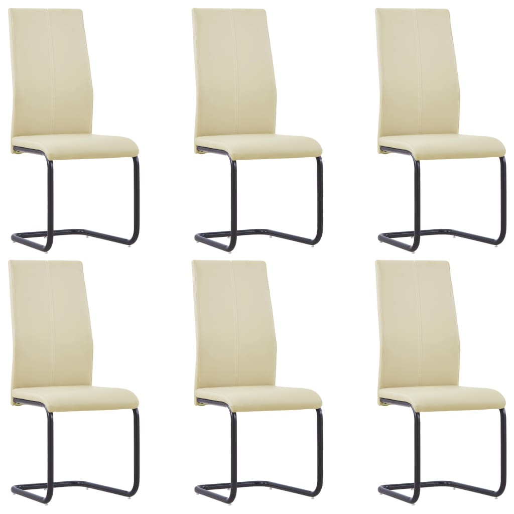 vidaXL Konzolne blagovaonske stolice od umjetne kože 6 kom cappuccino