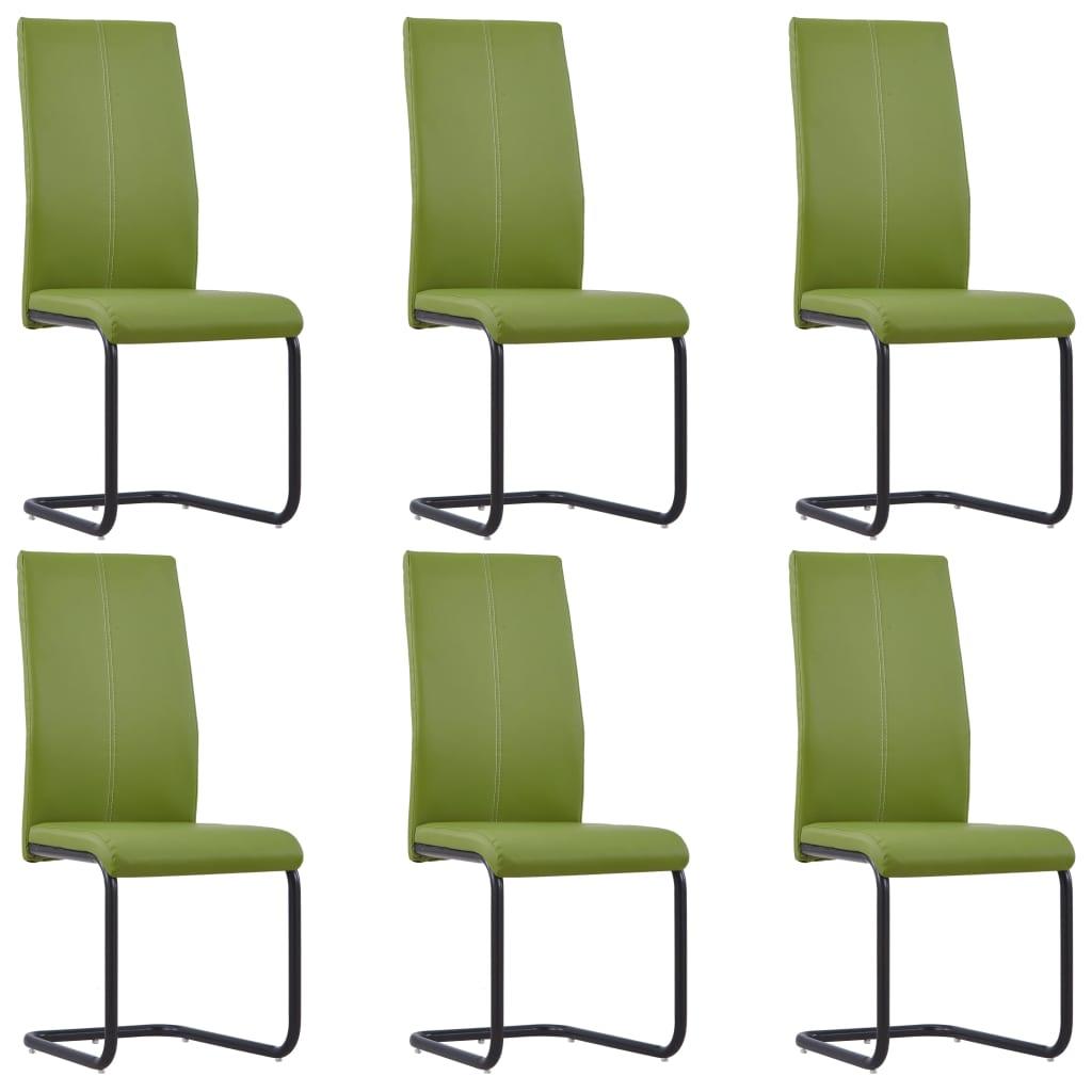 vidaXL Καρέκλες Τραπεζαρίας 6 τεμ. Πράσινες από Συνθετικό Δέρμα