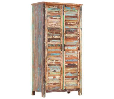 vidaXL Kledingkast 90x50x180 cm massief gerecycled hout