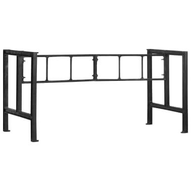 vidaXL Pieds de table de salle à manger 150x68x73 cm Fonte[1/7]