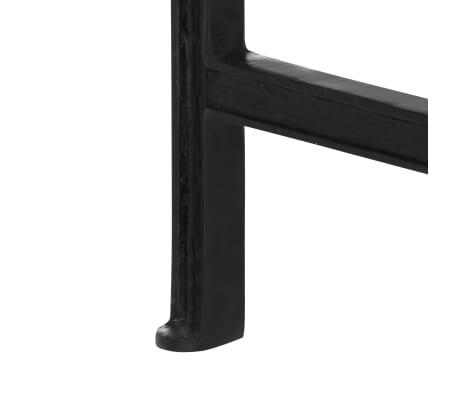 vidaXL Pieds de table de salle à manger 150x68x73 cm Fonte[6/7]