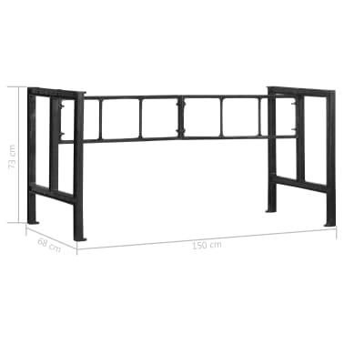 vidaXL Pieds de table de salle à manger 150x68x73 cm Fonte[7/7]