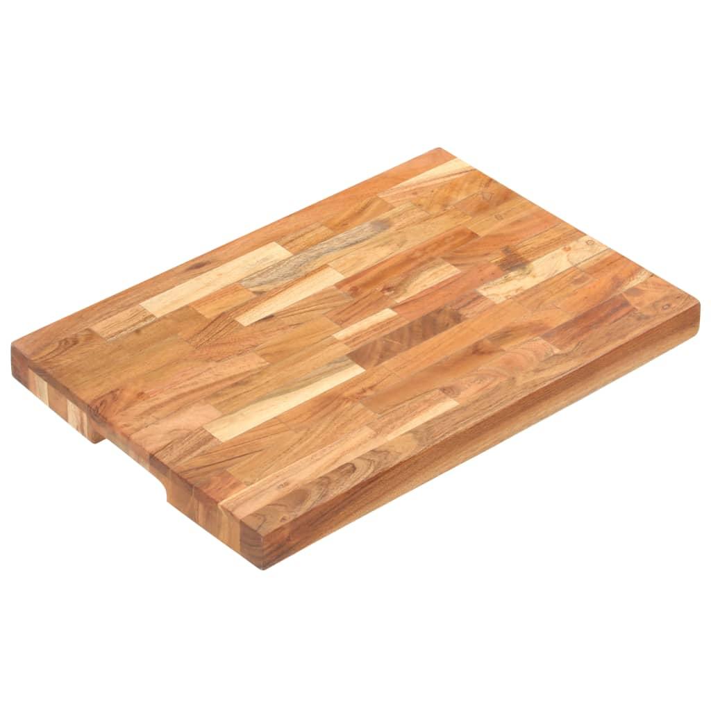 vidaXL Placă de tocat, 50x35x4 cm, lemn masiv de acacia vidaxl.ro