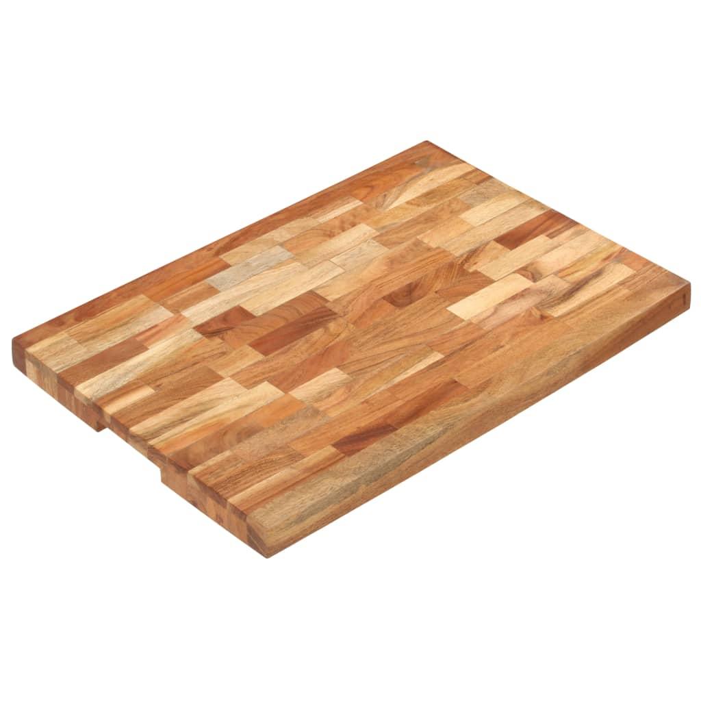vidaXL Placă de tocat, 60x40x4 cm, lemn masiv de acacia vidaxl.ro