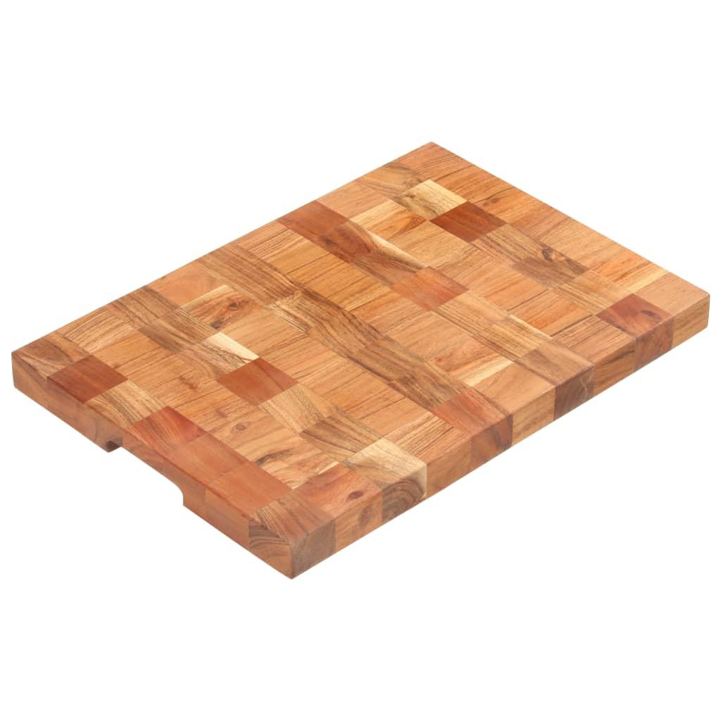 vidaXL Placă de tocat, 50 x 34 x 3,8 cm, lemn masiv de acacia vidaxl.ro