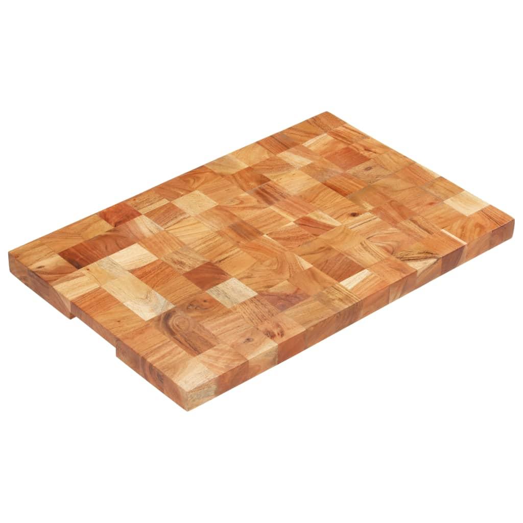 vidaXL Placă de tocat, 60 x 40 x 3,8 cm, lemn masiv de acacia vidaxl.ro