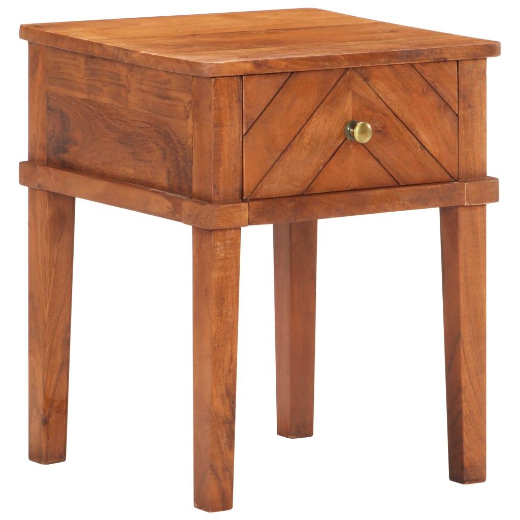 vidaXL Noptieră, 40 x 40 x 50 cm, lemn masiv de acacia imagine vidaxl.ro