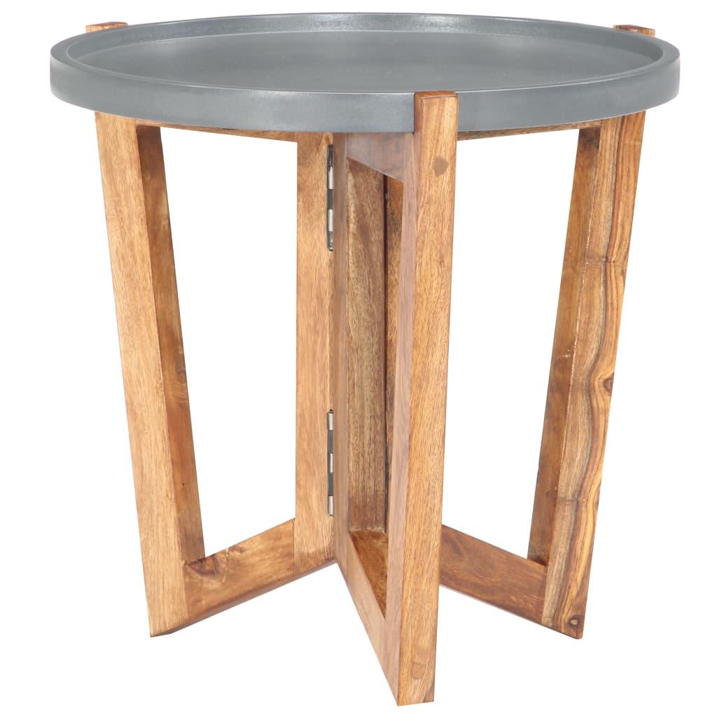 Konferenční stolek 40 x 40 cm masivní sheeshamové dřevo