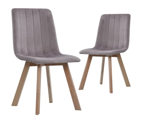 vidaXL Dining Chairs 2 pcs Pink Velvet