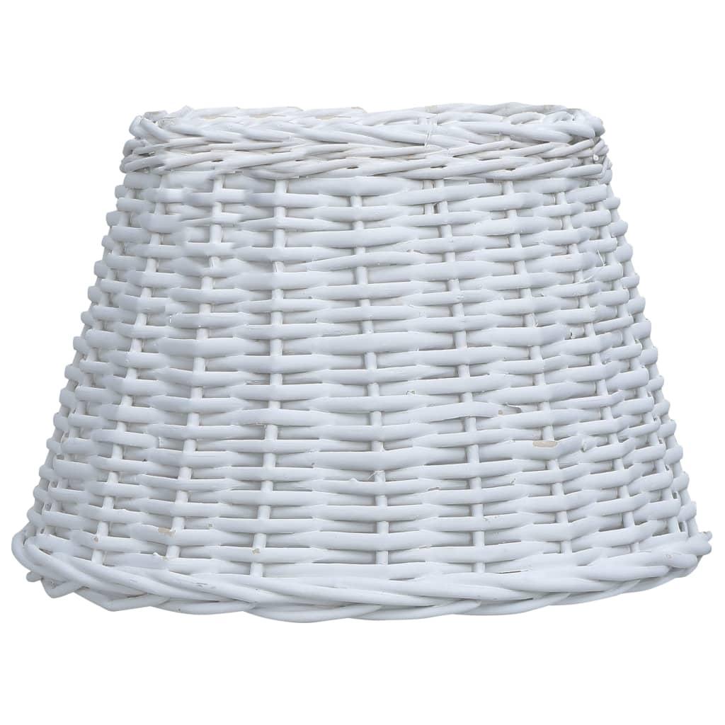 vidaXL Abajur lampă, alb, 38 x 23 cm, răchită poza vidaxl.ro