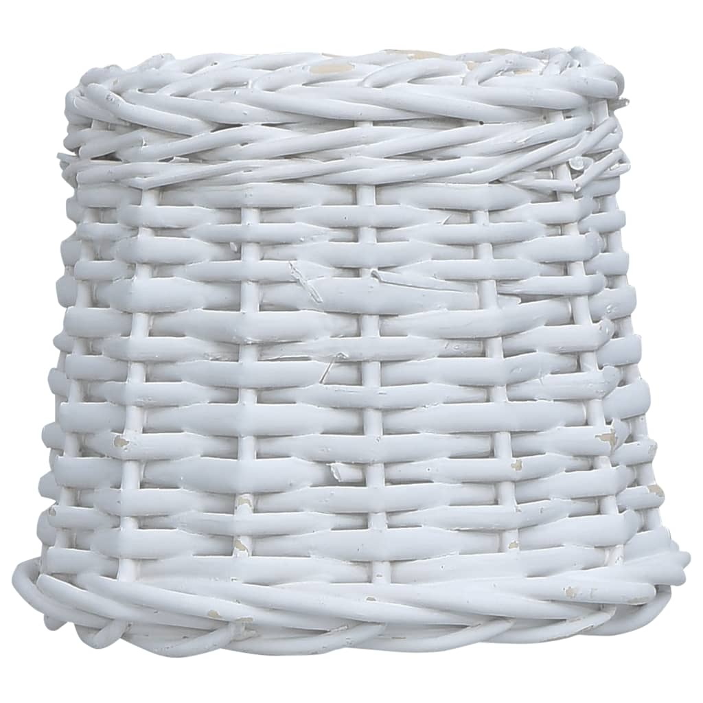 vidaXL Abajur de lampă, alb, 15 x 12 cm, răchită poza vidaxl.ro