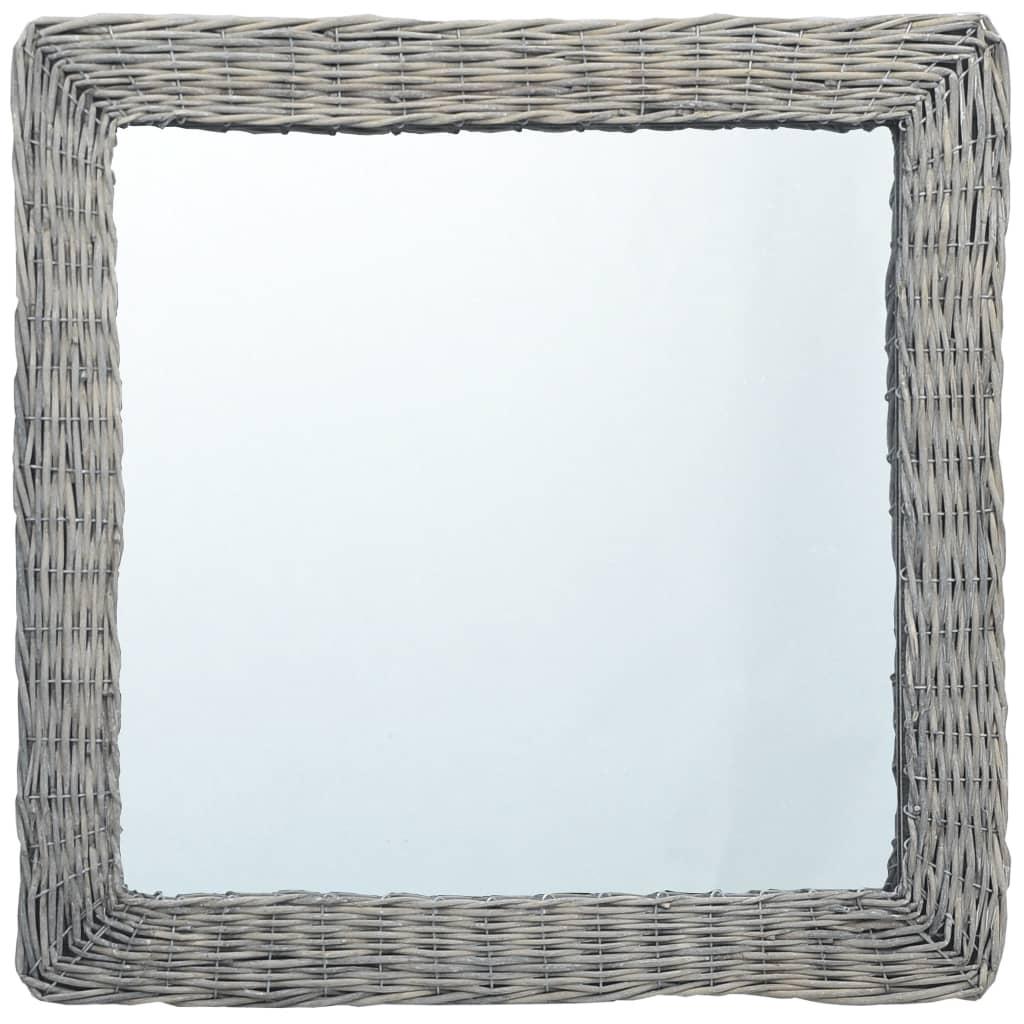 Zrcadlo 50 x 50 cm proutí