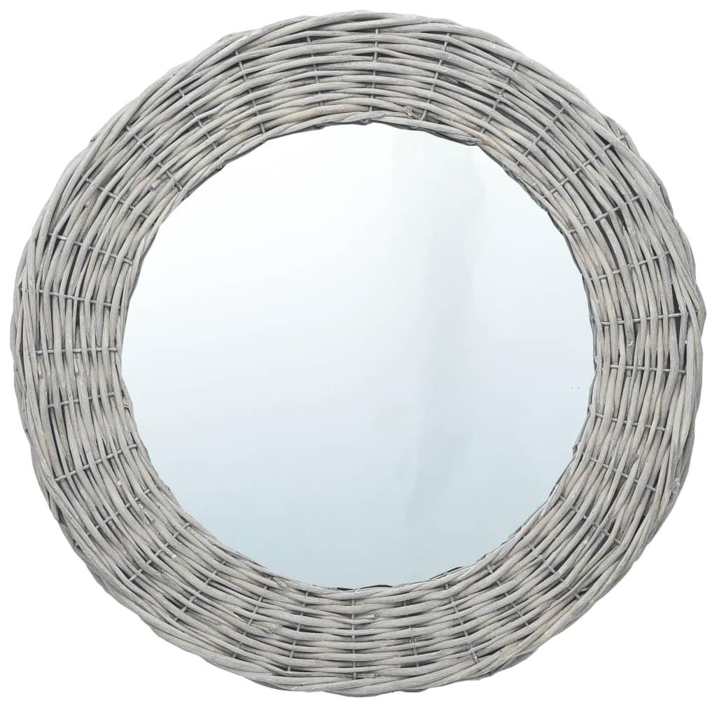 vidaXL Oglindă, 80 cm, răchită poza vidaxl.ro