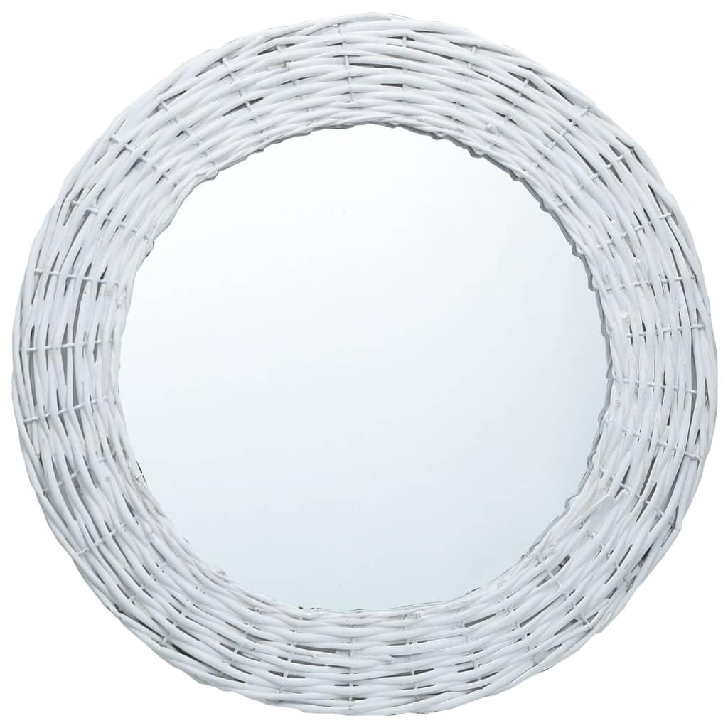 Zrcadlo bílé 50 cm proutí