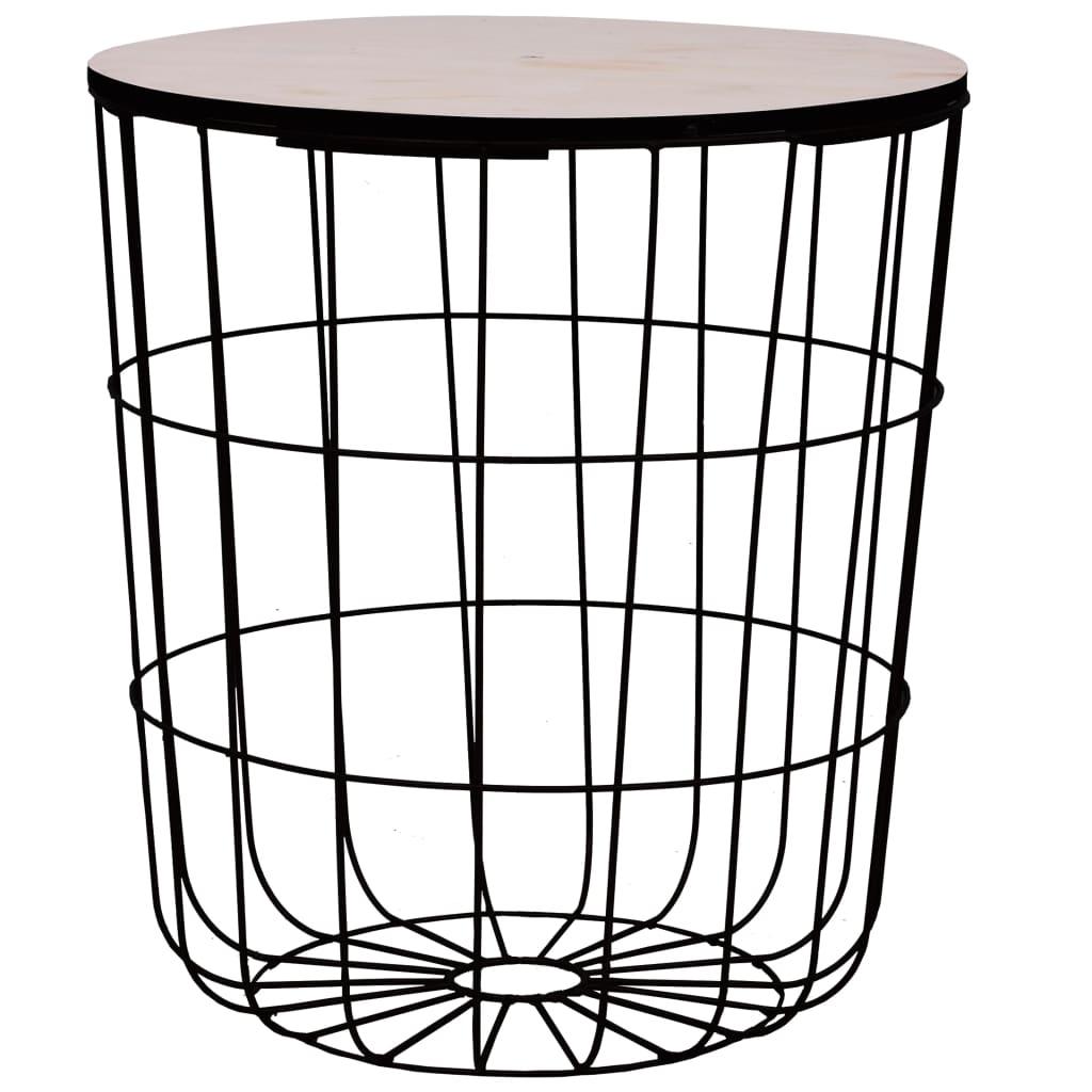 Konferenční stolek černý Ø 39,5 cm