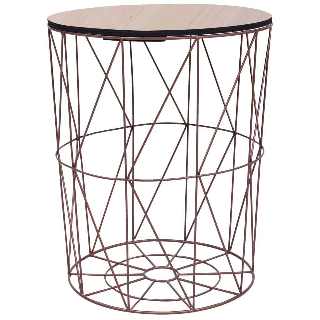 Konferenční stolek měděný Ø 47 cm