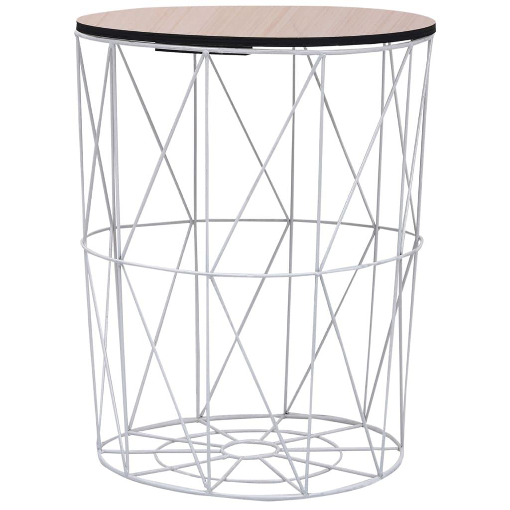 Konferenční stolek bílý Ø 47 cm