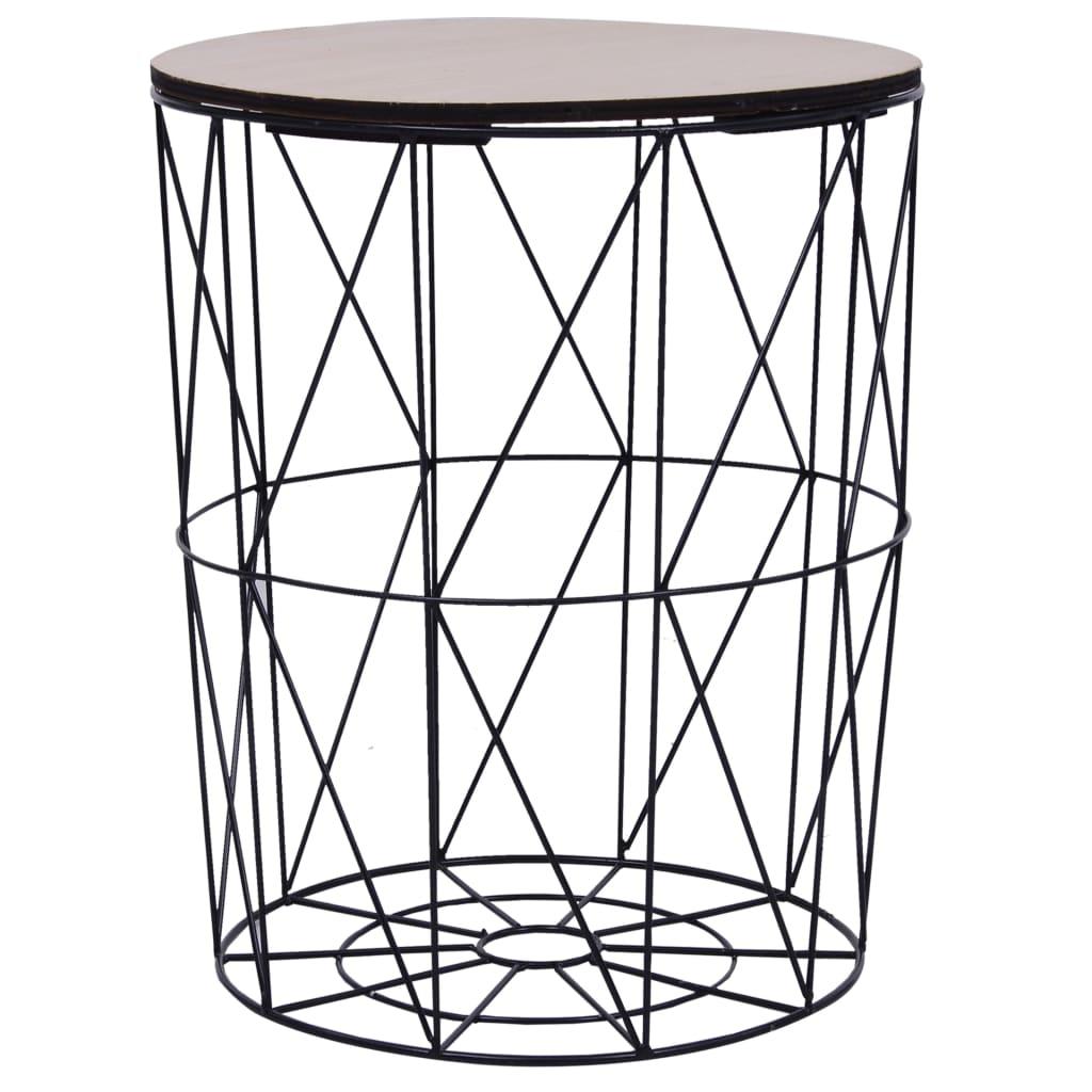 Konferenční stolek černý Ø 47 cm