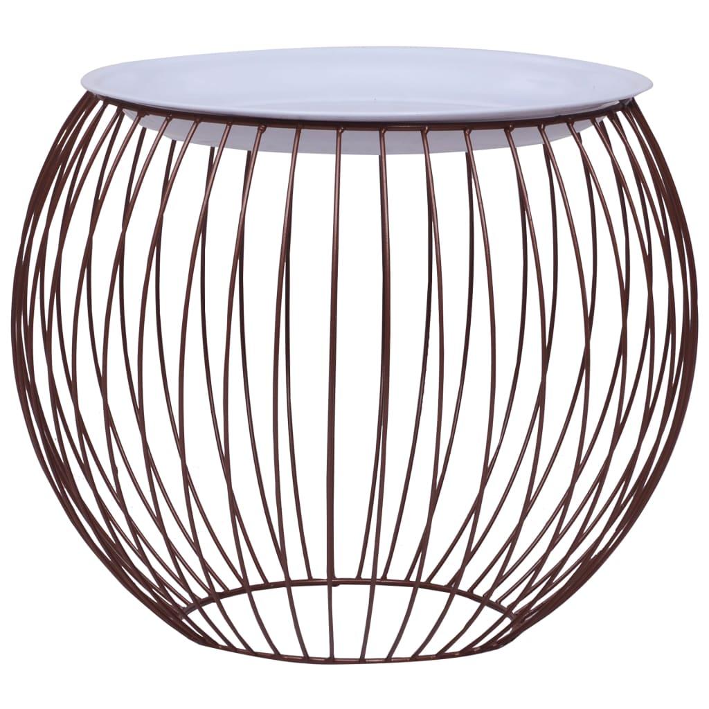 Konferenční stolek zlatý Ø 41 cm