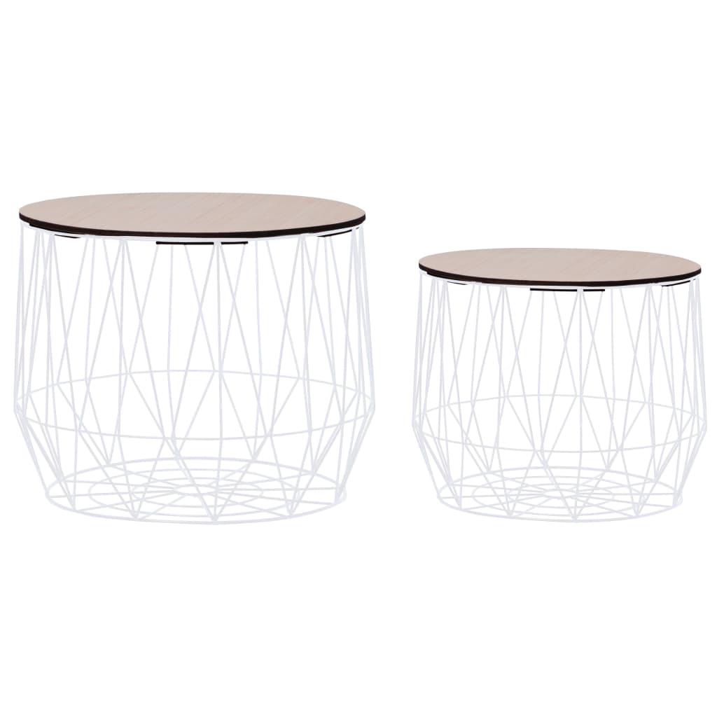 vidaXL Konferenční stolek 2 ks bílý