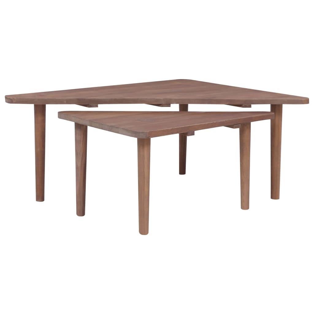 Konferenční stolky 2 ks masivní teakové dřevo