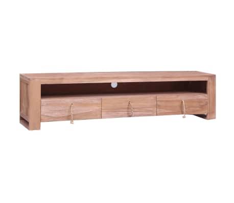 vidaXL Tv-meubel 140x30x35 cm massief teakhout