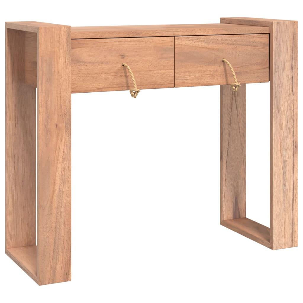 vidaXL Masă consolă, 90 x 35 x 75 cm, lemn masiv de tec imagine vidaxl.ro