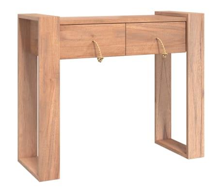 vidaXL Konzolový stolek 90 x 35 x 75 cm masivní teakové dřevo