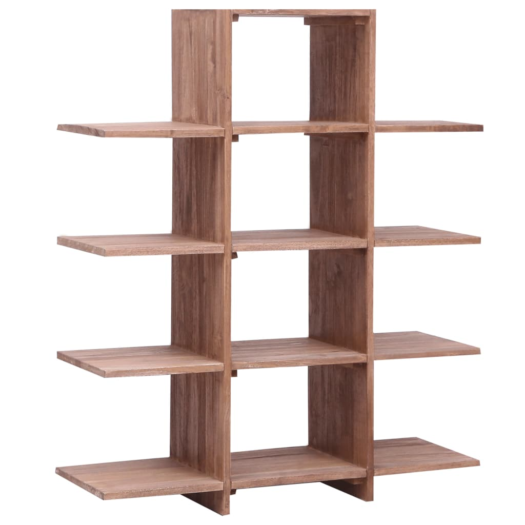 99287897 Bücherregal 100×30×120 cm Massivholz Teak