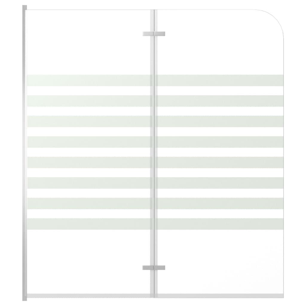 vidaXL Cabină de baie, 120 x 140 cm, sticlă securizată, dungi poza 2021 vidaXL