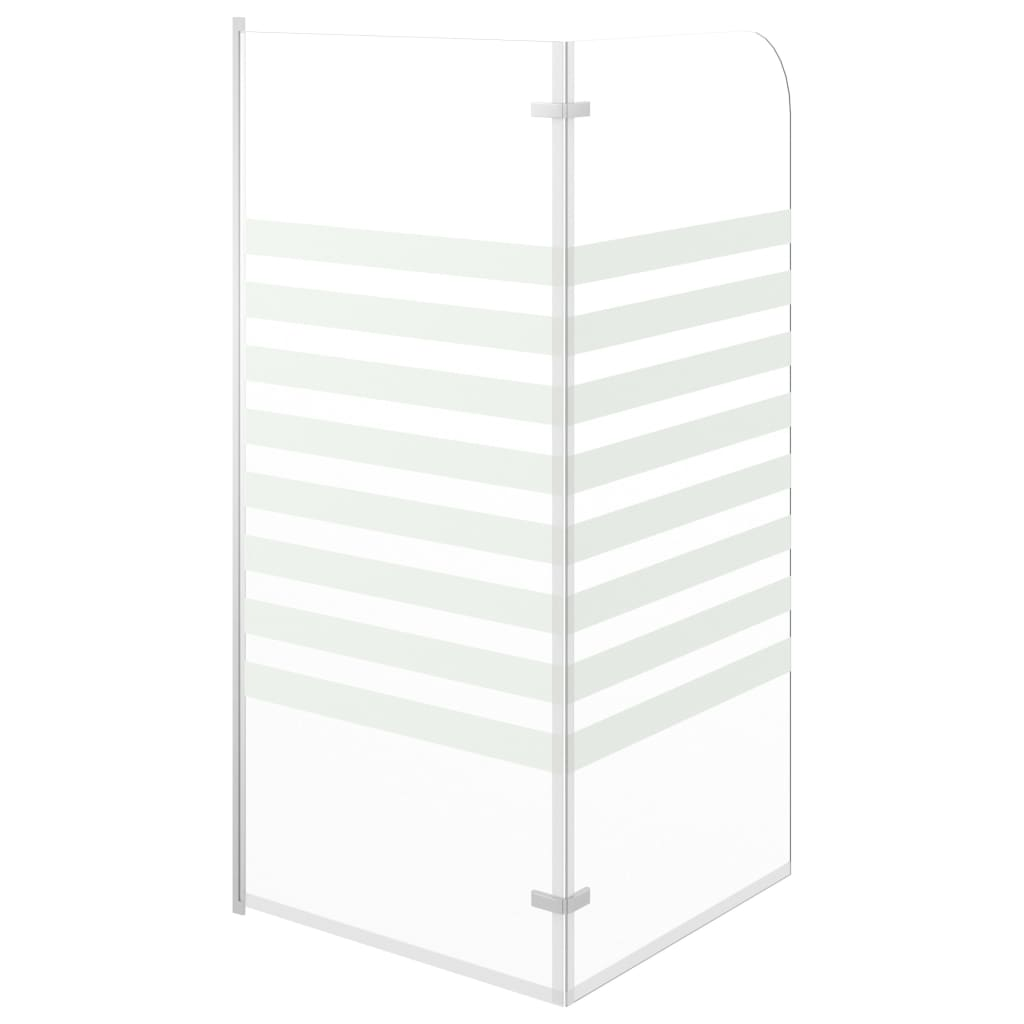 Badwand gestreept 120x140 cm gehard glas