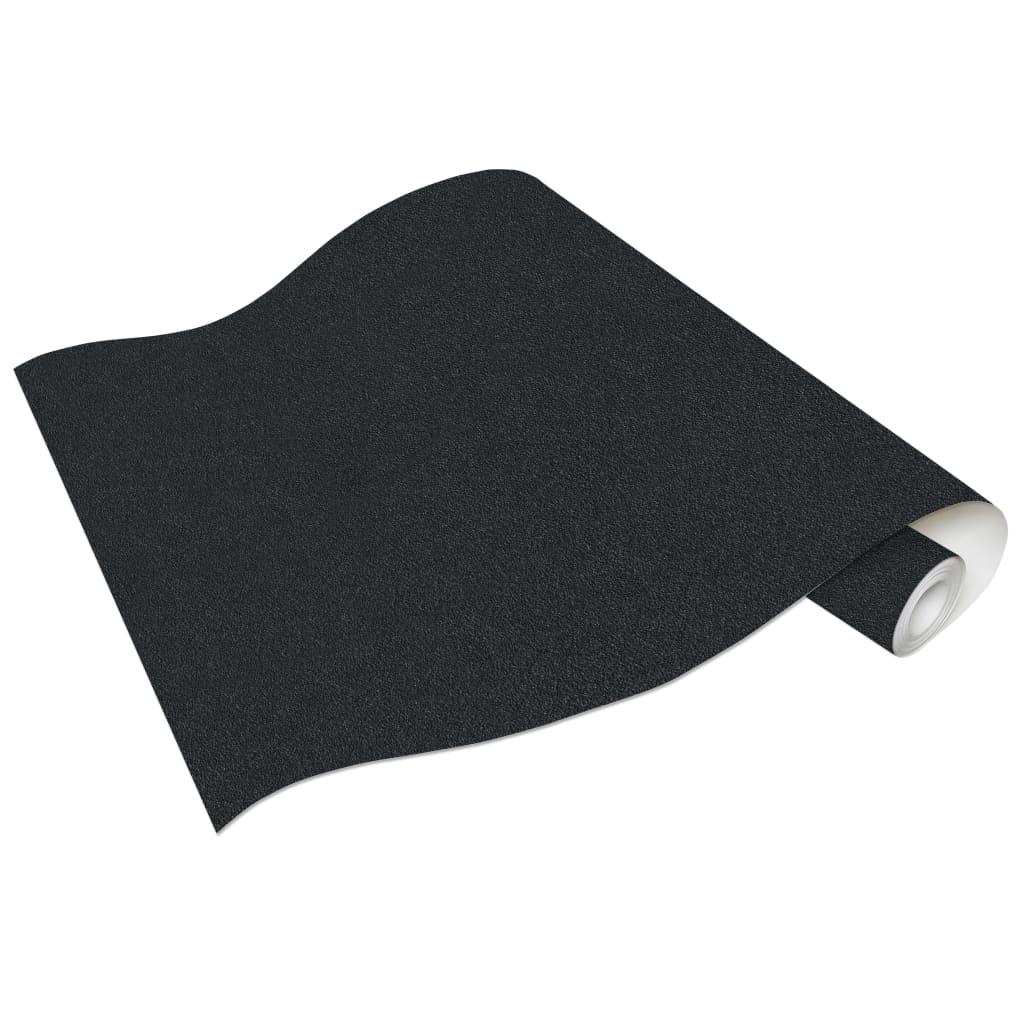 vidaXL 4 st Vliesbehangrollen 053x10 m effen glanzend zwart