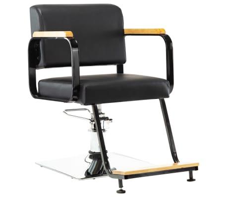 vidaXL Professionell frisörstol svart konstläder
