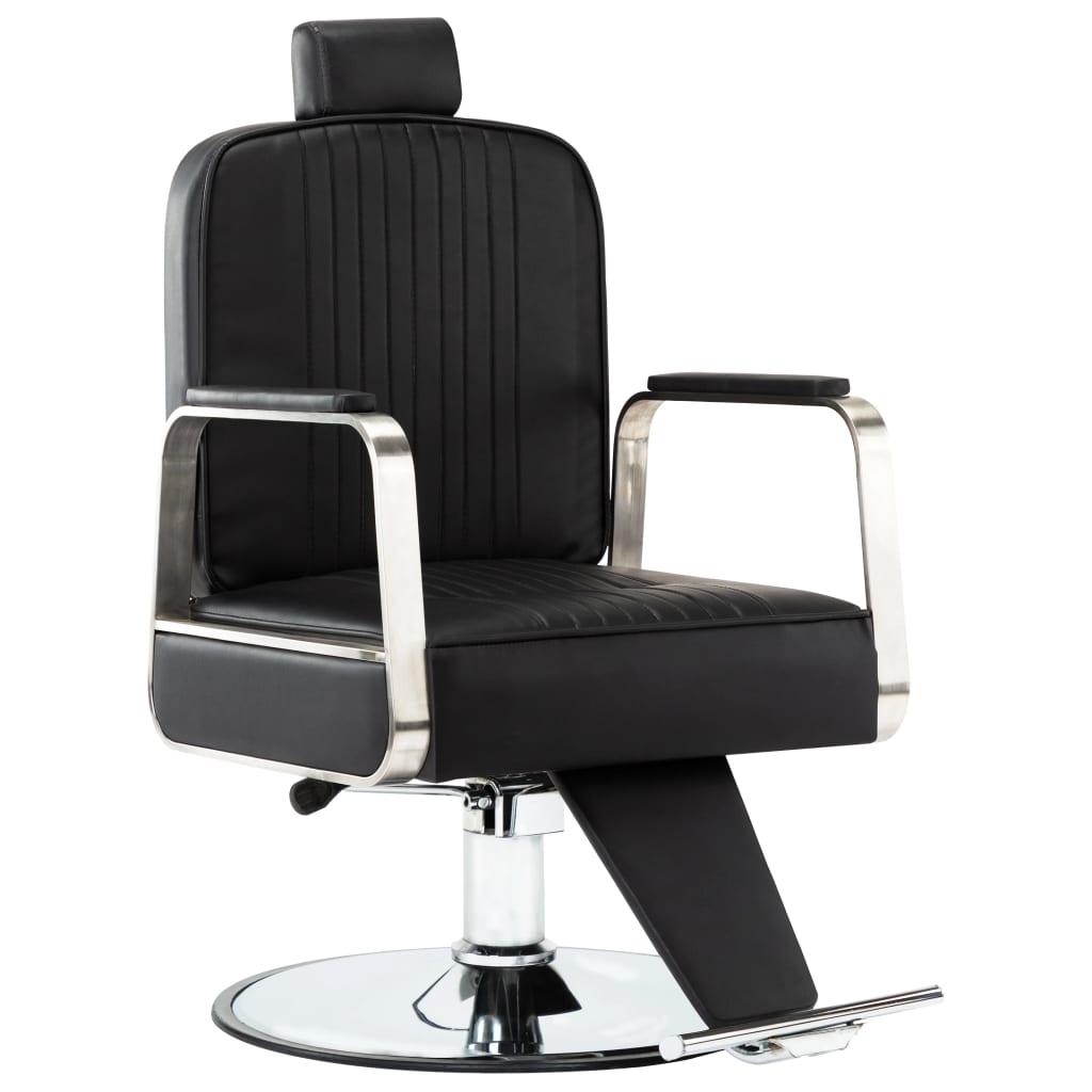 vidaXL Scaun de frizer profesional, negru, piele ecologică vidaxl.ro