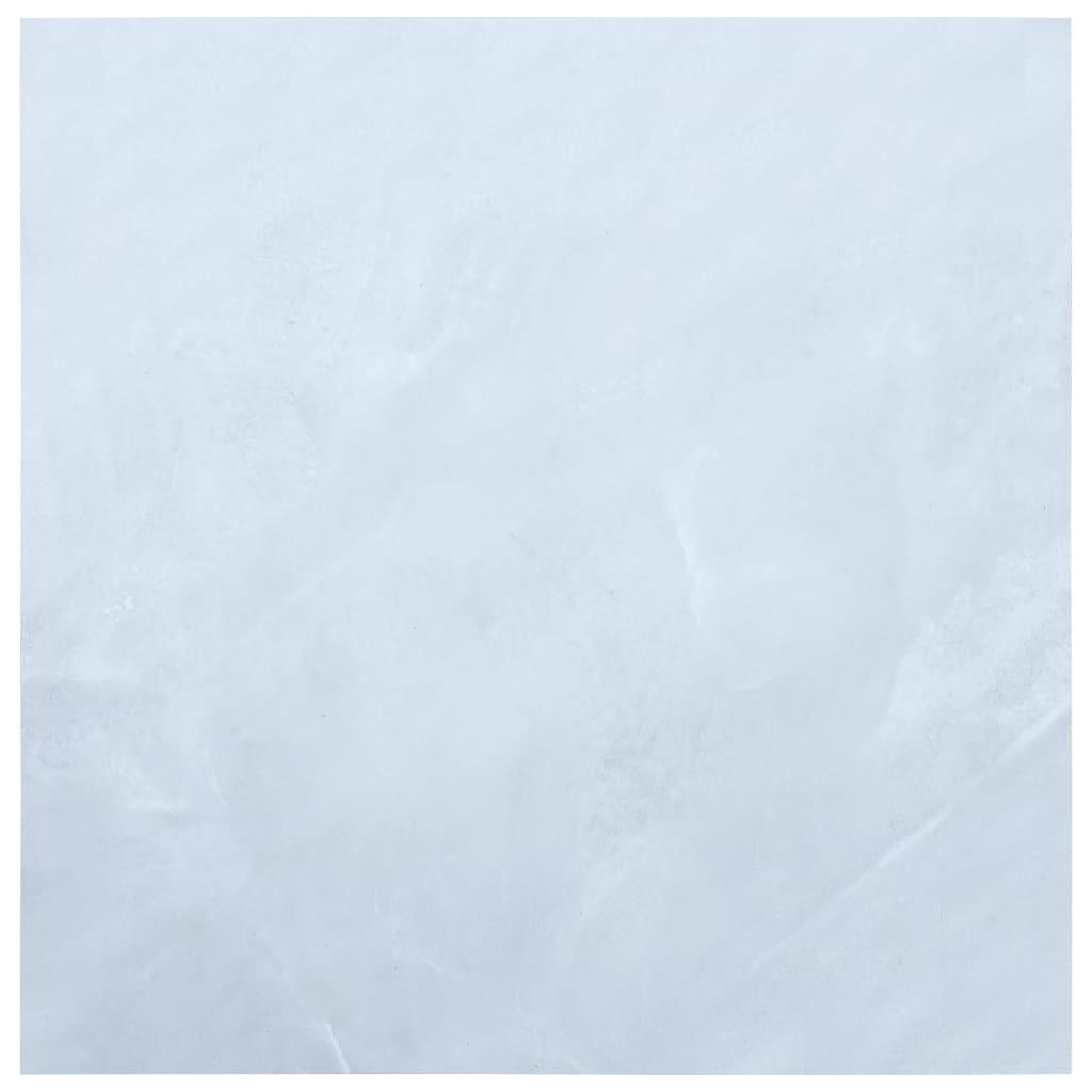 vidaXL Plăci de pardoseală autoadezive, alb marmură, 5,11 m² PVC vidaxl.ro