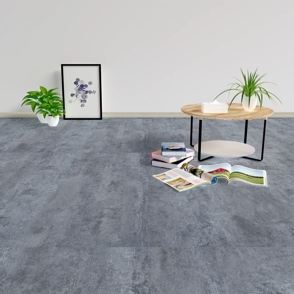 vidaXL Samolepicí podlahové desky 5,11 m² PVC šedý mramor