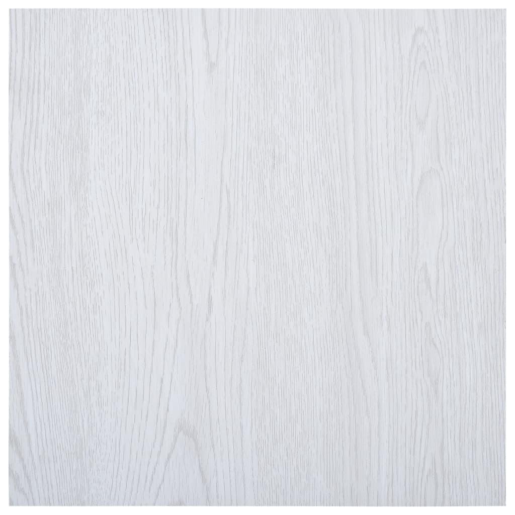vidaXL Plăci de pardoseală autoadezive, alb, 5,11 m² PVC poza vidaxl.ro