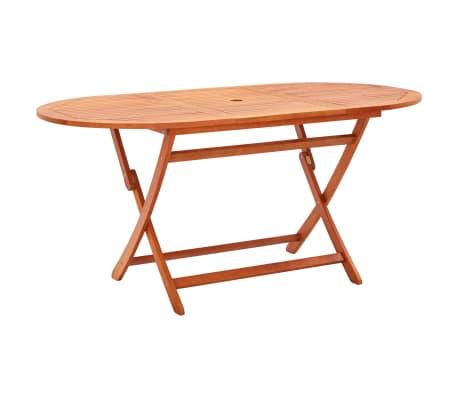 vidaXL Table de jardin pliable 160x85x74 cm Bois d'eucalyptus solide